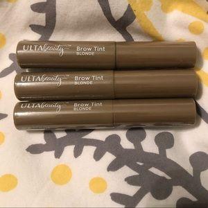 Ulta Beauty Lot of 3 Blonde Brow Tint
